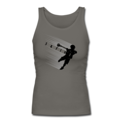 Women's Longer Length Fitted Tank by Rob Pannell