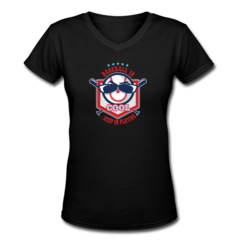 Women's V-Neck T-Shirt by Keep On Playing