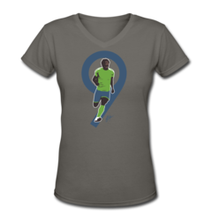 Women's V-Neck T-Shirt by Obafemi Martins