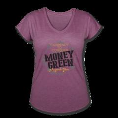 Women's V-Neck Tri-Blend T-Shirt by Draymond Green