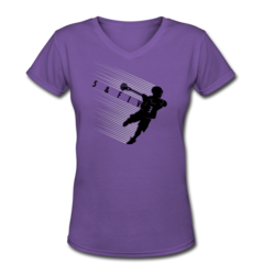 Women's V-Neck T-Shirt by Rob Pannell