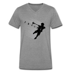 Men's V-Neck T-Shirt by Rob Pannell